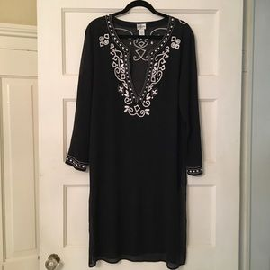 Chico's | Silk Tunic with Embroidery Detail